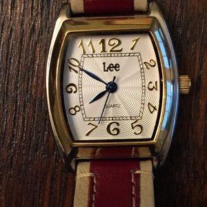 Vintage Unique Lee (Jeans Co.) Blue Hands Watch